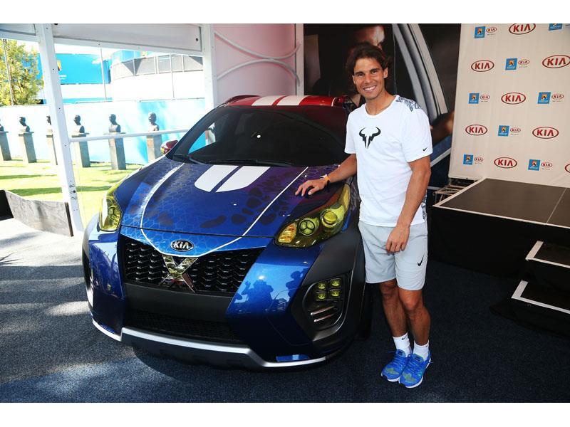 Kia Motors Global Media Center Rafael Nadal Unveils Kia S Newest X Car At Australian Open 2016
