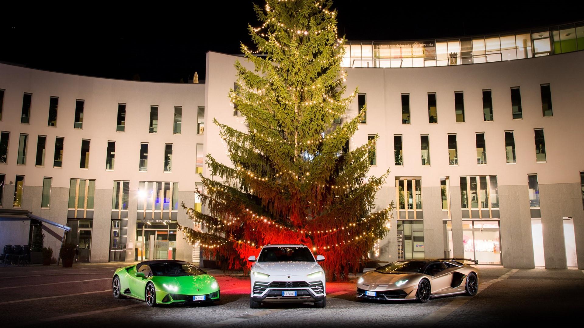 Lamborghini Christmas Drive: a holiday journey with Aventador SVJ, Huracán EVO and Urus celebrates a successful 2019 - Image 1