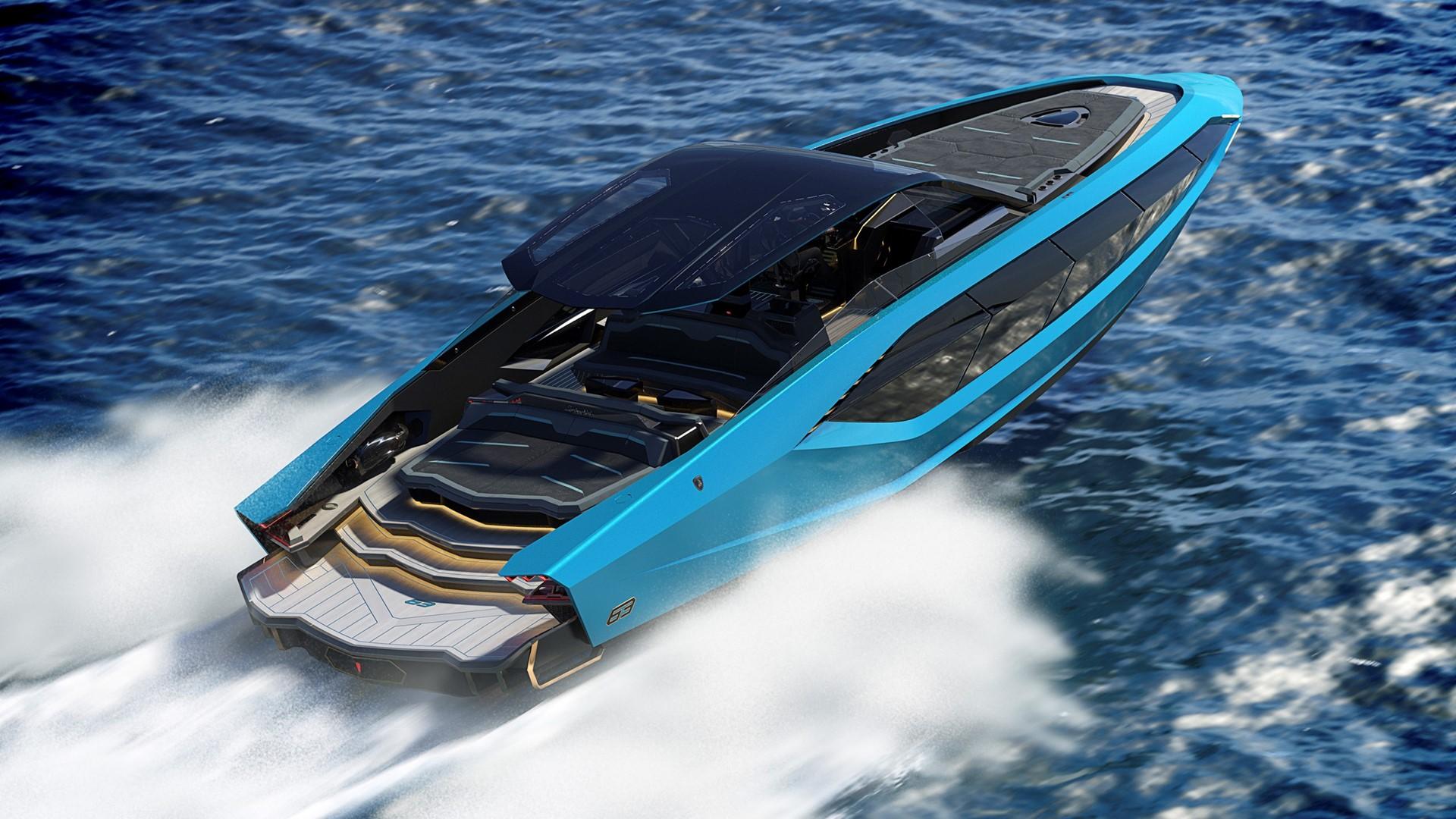 Automobili Lamborghini and The Italian Sea Group unveil the motor yacht 'Tecnomar for Lamborghini 63' - Image 8