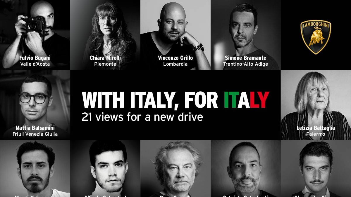 """Automobili Lamborghini launches project: """"With Italy, For Italy"""" 20 Italian photographers for 20 regions, plus a cameo by Letizia Battaglia for Palermo, in support of Italy - Image 2"""