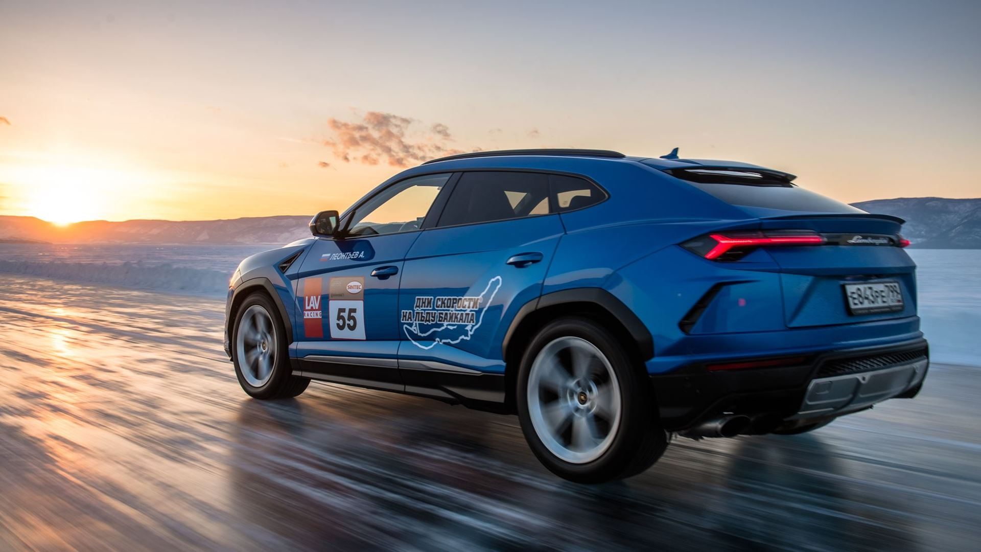 Lamborghini Urus sets high-speed record on the ice of Lake Baikal - Image 6
