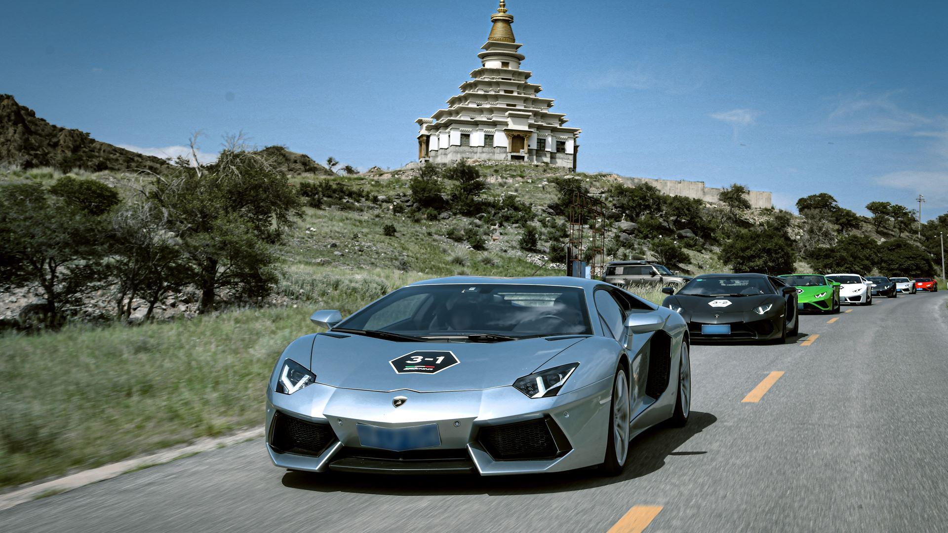 "Lamborghini Esperienza Giro ""Journey into the Vast"" Unparalleled expedition of 42 Lamborghinis through the North West of China - Image 1"
