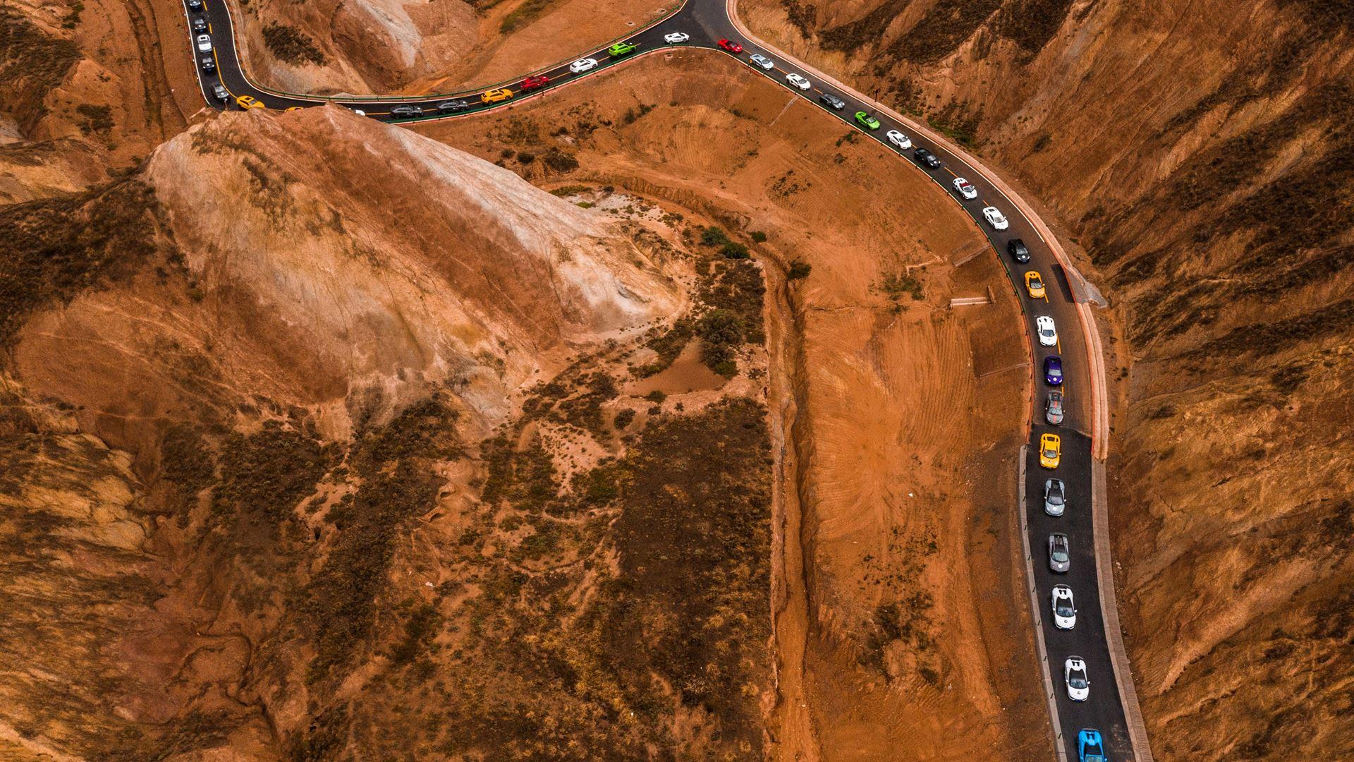 "Lamborghini Esperienza Giro ""Journey into the Vast"" Unparalleled expedition of 42 Lamborghinis through the North West of China - Image 7"