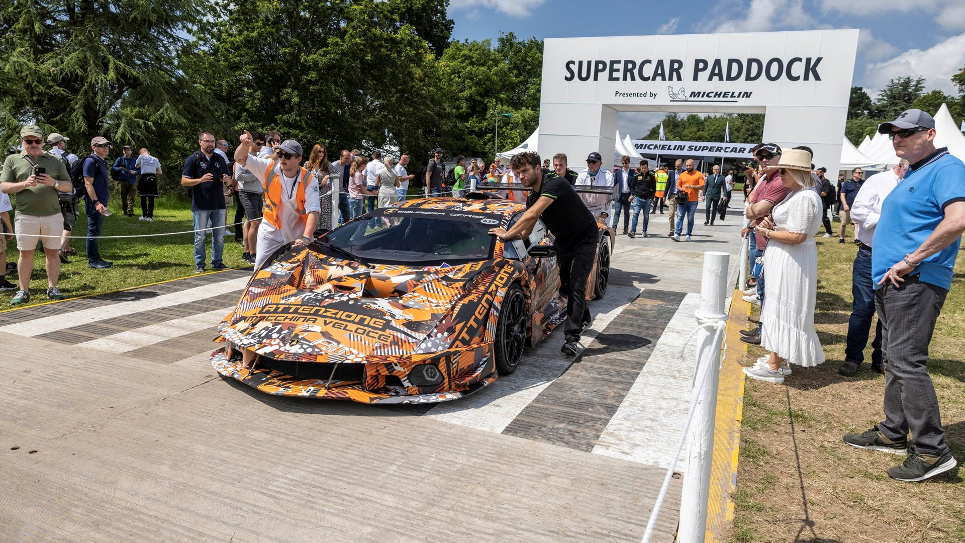 Automobili Lamborghini celebrates V12 and its Squadra Corse motorsport prowess on road and track, at Goodwood Festival of Speed 2021 - Image 5