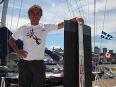 Two Handed Transatlantic Race (Twostar) regatta 2012 winners, Vento di Sardegna, partnered by Automobili Lamborghini's carbon fiber competence