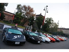 Lamborghini 50th Anniversary Grand Tour starts: 350 supercars from all over the world celebrating 'Made in Italy'.