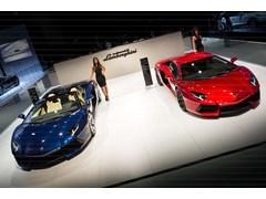 Lamborghini Aventador LP 700-4 Roadster at 2013 Dubai Motor Show