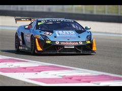 Milos Pavlovic (Bonaldi Motorsport) takes pole position in  Paul Ricard Lamborghini Blancpain Super Trofeo Europe