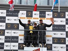 Milos Pavlovic-Edoardo Piscopo duo (Bonaldi Motorsport) takes Race One in Spa-Francorshamps Lamborghini Blancpain Super Trofeo