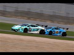 Lamborghini burns up the track in its first day of racing at the Zhuhai International Circuit