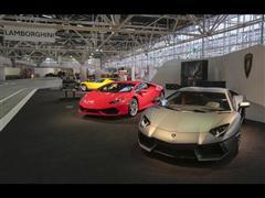Lamborghini porta al Motorshow di Bologna la nuova Huracán LP 610-4, l'Aventador LP 700-4 e la Miura SV