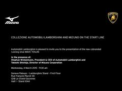 Collezione Automobili Lamborghini and Mizuno On The Start Line: Presentation at the 2015 Geneva Motor Show