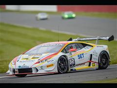 Patrick Kujala (Bonaldi Motorsport) takes third straight win in Lamborghini Blancpain Super Trofeo Europe Race 1 at Silverstone