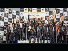 Patrick Kujala delivers fourth straight win for Bonaldi Motorsport in Silverstone Lamborghini Blancpain Super Trofeo Europe Race 2