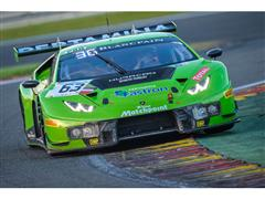 The Lamborghini Huracán GT3 proves itself in the Total 24h of Spa in the Blancpain Endurance Series