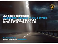 Automobili Lamborghini invites to the Press Conference at IAA, Frankfurt