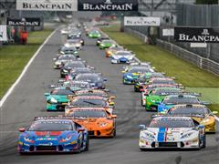 Dennis Lind wins at his debut Race 1 of the 2016 Lamborghini Blancpain Super Trofeo Europe