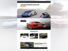 Automobili Lamborghini unveils a fresh look on the Web: New Lamborghini.com now online
