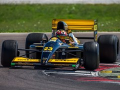 The Minardi 191B F1 with Lamborghini engine  returns to racing after 26 years