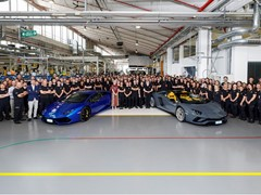 Automobili Lamborghini produces Aventador 8,000 and Huracán 11,000