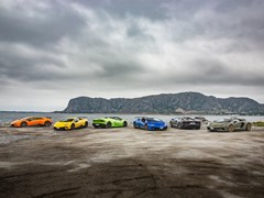 Lamborghini Avventura 2018: an expedition of Lamborghini  super sports cars across the Norwegian fjords