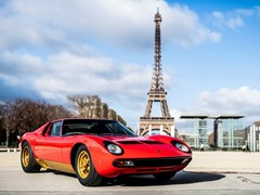 Lamborghini Polo Storico at Rétromobile Paris to unveil the latest restoration:  the Miura SV owned by Jean Todt