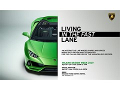 Milano Design Week, from 9 to 14 April at Magna Pars Suites Milan LAMBORGHINI LIVING IN THE FAST LANE
