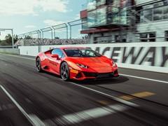 Dynamic Launch of Lamborghini Huracán EVO at Moscow Raceway
