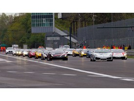 Italian Team Autocarrozzeria Imperiale pay tribute to earthquake victims as Belgium/French pairing take pole for Sunday's first race a t Silverstone