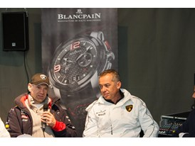 Adrian Newey with Lamborghini's Director of R&D and Head of Motorsport