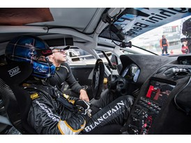 LBSTF Silverstone car #11 on the grid with Andrea Mamé and Mirko Zanardini