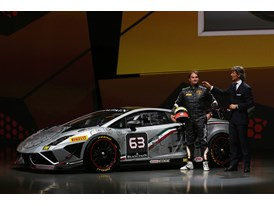 New Lamborghini Gallardo LP 570-4 Squadra Corse - S. Winkelmann and F.Babini at Worldwide Premiere