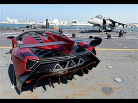 Veneno Roadster on naval aircraft carrier Nave Cavour 3