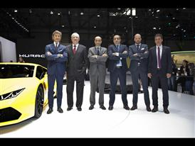 Lamborghini Press Conference at 2014 Geneva Motor Show