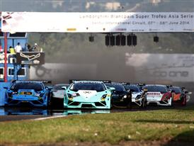 2014 Lamborghini Blancpain Super Trofeo Asia Series Sentul Stop Opening Lineup