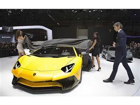 Lamborghini Press Conference at the 2015 Geneva Motor Show
