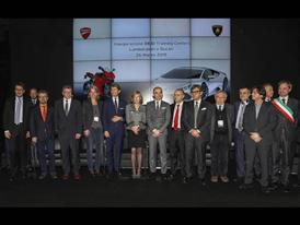 Inauguration DESI, in the center - S. Winkelmann, Minister S. Giannini, C. Domenicali