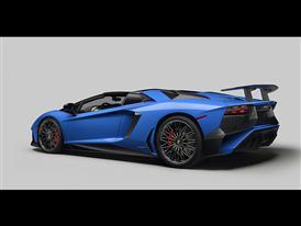 Lamborghini Aventador SV Roadster 3/4 Rear Low