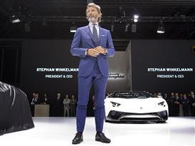 Lamborghini Press Conference at the 2015 Frankfurt Motor Show