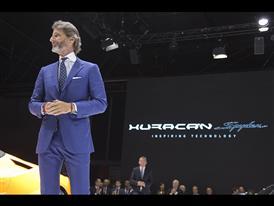 Stephan Winkelmann, President and CEO of Automobili Lamborghini and New Lamborghini Huracán LP 610-4 Spyder