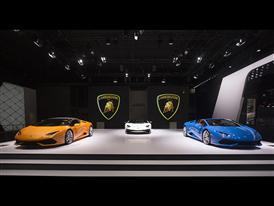 Lamborghini stand at the 2015 Frankfurt Motor Show