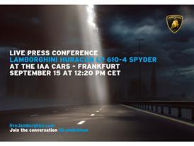 Press Conference Automobili Lamborghini IAA Frankfurt - 15 September 2015