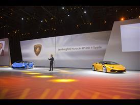 Stephan Winkelmann, President and CEO of Automobili Lamborghini and New Lamborghini Huracán LP 610-4 Spyder 2