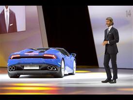 Stephan Winkelmann, President and CEO of Automobili Lamborghini and New Lamborghini Huracán LP 610-4 Spyder 3