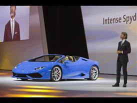 Stephan Winkelmann, President and CEO of Automobili Lamborghini and New Lamborghini Huracán LP 610-4 Spyder 8