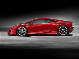 Huracán LP580-2 Side Red A3-HD