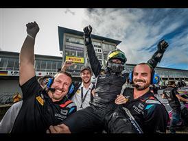 Ryan Ockey celebrates