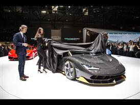 Stephan Winkelmann, President and CEO of Automobili Lamborghini and new Lamborghini Centenario