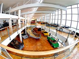 Museo Lamborghini, interni