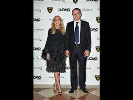 Franca Sozzani and Stefano Domenicali